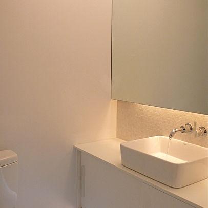 Tiny Bathroom Design Ideas under cupboard lighting