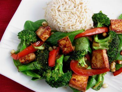 Tofu and Vegetable Stir-Fry recipe- Dinner #freezercooking #vegetarian #tofu