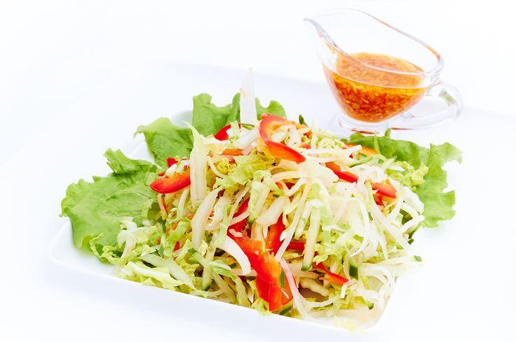 Японский салат из гречневой лапши