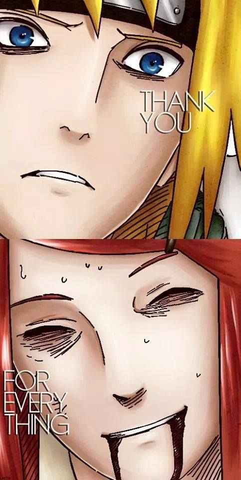 kushina and minato. This is just so sad. The feels are gunning me down man.
