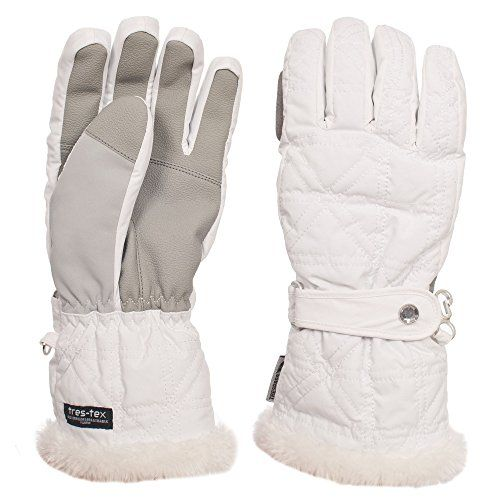 Trespass Women/Ladies Gem TP50 Ski Gloves (XL) (White) * You can get additional details at the image link.