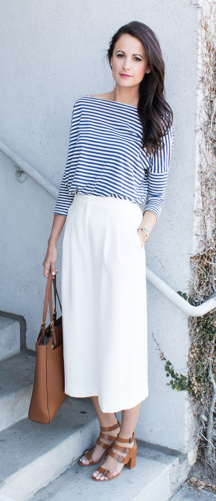 I love these Chelsea28 Culottes from Nordstrom! They make me feel like I am about to jump on a yacht in France! Pair them stripes and tan Zara sandals for an added yacht effect!