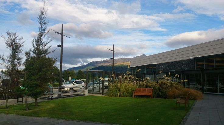 Outside view of Queenstown airport