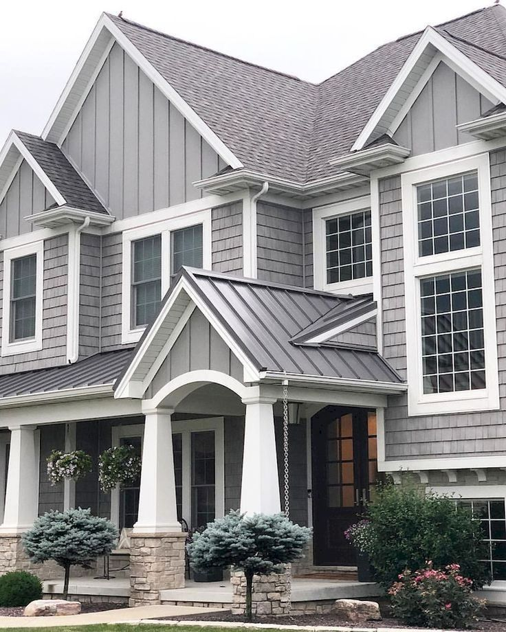 Beautiful Exterior House Colors Design: 38 Beautiful Combination Color For Farmhouse Exterior