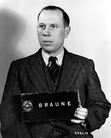 Karl Rudolf Werner Braune, 3/1/1948, Nuremberg Military Tribunal. | A member of Nazi police and the SS, held rank of Obersturmbannführer. During the Nazi invasion of the Soviet Union, 6/22/1941, Braune commanded Special Detachment 11b, Braune organized and conducted mass murders of Jews in the southern Ukraine and Crimea. Braune was tried before the Nuremberg Military Tribunal in 1948 in the Einsatzgruppen trial. He was sentenced to death, in 1951 was hanged.