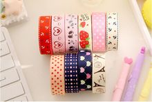 1 unid corea dulce DIY tela Washi papelería libro de recuerdos decorativo Scotch cinta adhesiva Cintas pegatinas Papeleria fita(China (Mainland))