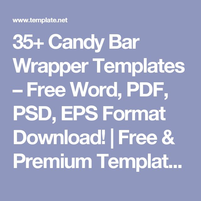 35+ Candy Bar Wrapper Templates – Free Word, PDF, PSD, EPS Format Download! | Free & Premium Templates