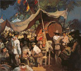 Feria: Gustavo Bacarisas çFecha de la obra s.f. Técnica: Óleo sobre lienzo Medidas 80 x 100 cm