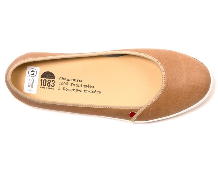 942 Taupe Cuir par 1083 (couleur beige) - MODETIC - Vêtements en coton bio - mode équitable