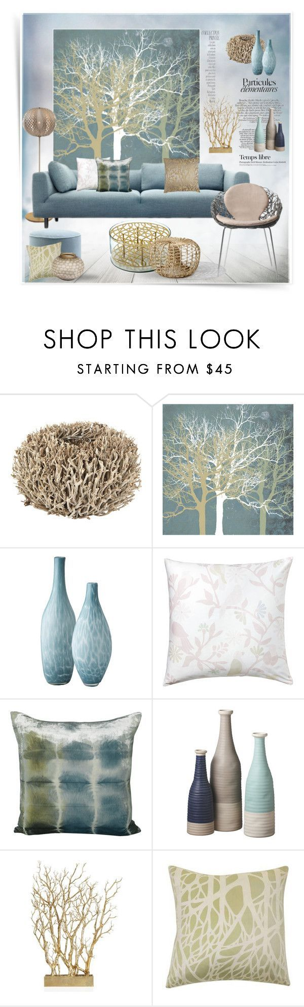 """""""Tranquill Trees"""" by snowbell ❤ liked on Polyvore featuring interior, interiors, interior design, thuis, home decor, interior decorating, See by Chloé, D&M, Klong en Lazy Susan"""