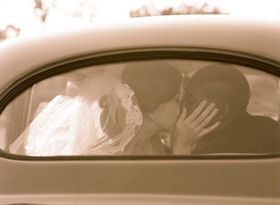 Vintage Fusion Wedding of Elizabeth Messina -  Bride,  Groom,  Car