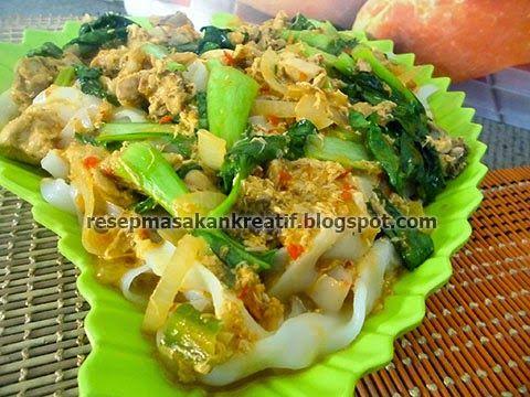 Resep Kwetiau Siram Kuah Telur Kaldu Ayam - Resep Masakan Indonesia