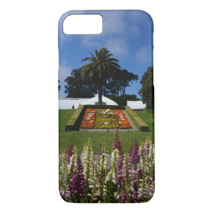 San Francisco Floral Clock iPhone 8/7 Case - purple floral style gifts flower flowers diy customize unique