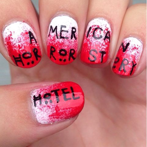 20 best tv show nail art images on pinterest american horror american horror story hotel nail art design prinsesfo Choice Image