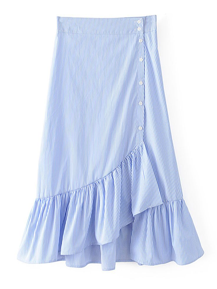 Shop Pinstripe Ruffle Tiered Skirt online. SheIn offers Pinstripe Ruffle Tiered Skirt & more to fit your fashionable needs.