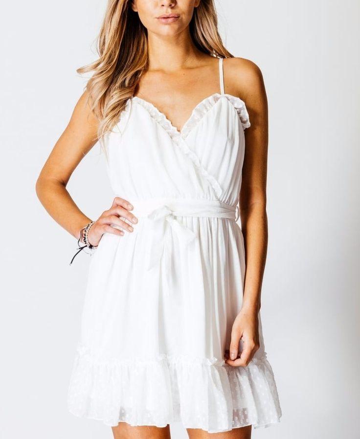 Parisian Trim Detail Crossover Front Floaty Dress £19 #dress #floaty #dress #giftsforher