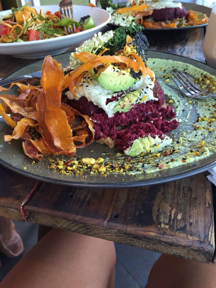 Vegan, organic and raw! Open burger  greenhouse_factory Kirra beach the Gold Coast..