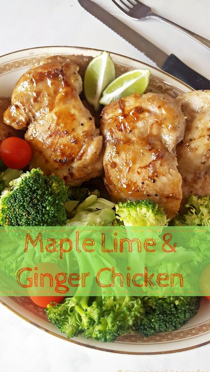 This easy recipe for Sticky Maple Lime & Ginger Chicken Thighs makes ...