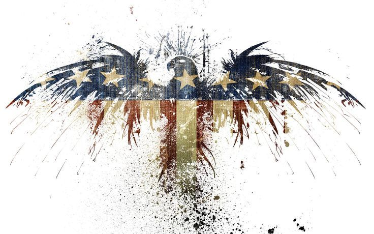 abstract eagle silhouette american flag - Google Search