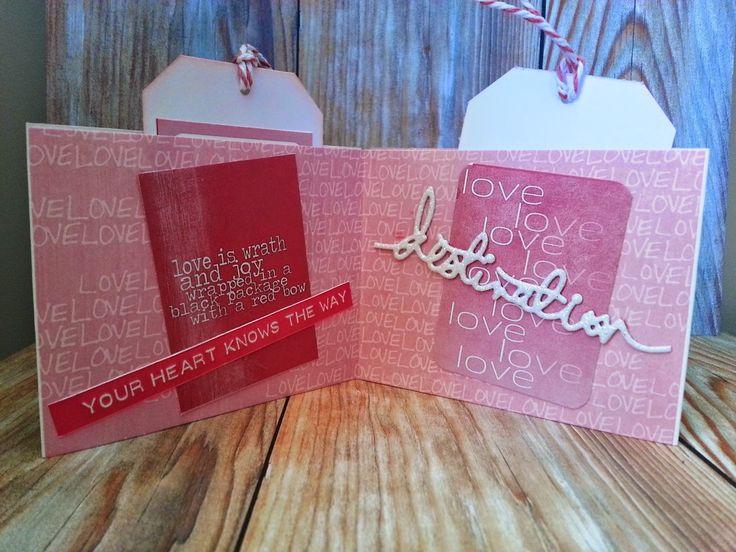 Tarjeta con Paper Romance de El Scrap de Pe Scrap #scrapbooking #paperromance #madscraproject