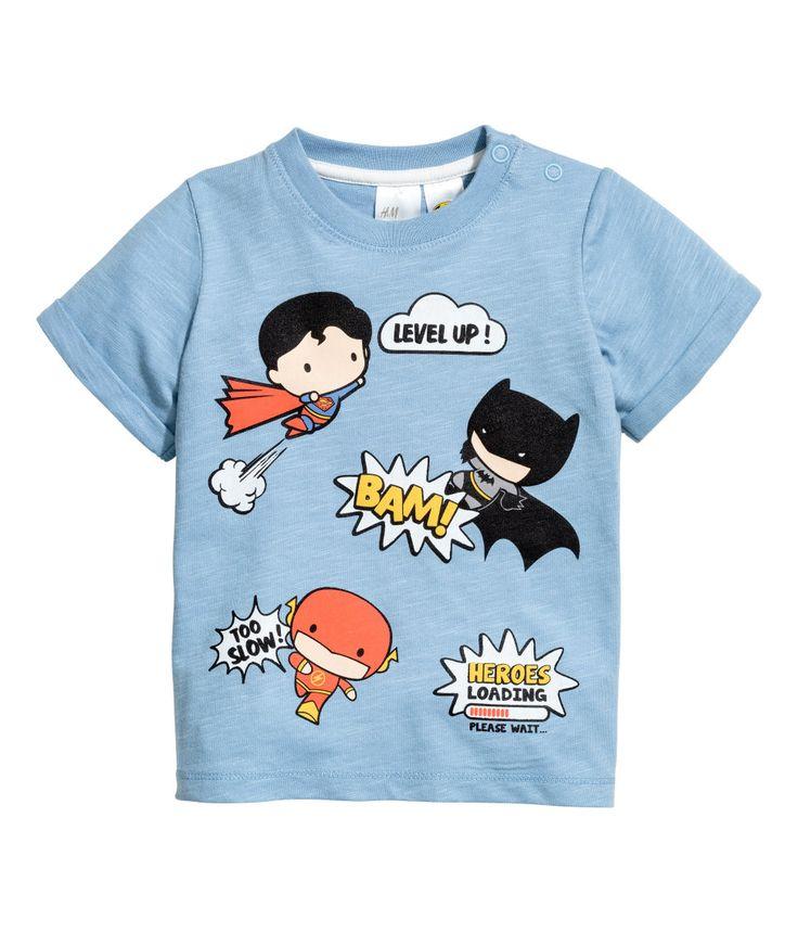 Camiseta con estampado   Azul   Niños   H&M MX
