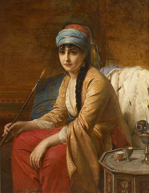 "Henri-Guillaume Schlesinger - ""Femme turque au Chibouk"" | Flickr - Photo Sharing!"