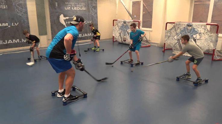 Off-Ice Hockey training: Stickhandling workout.