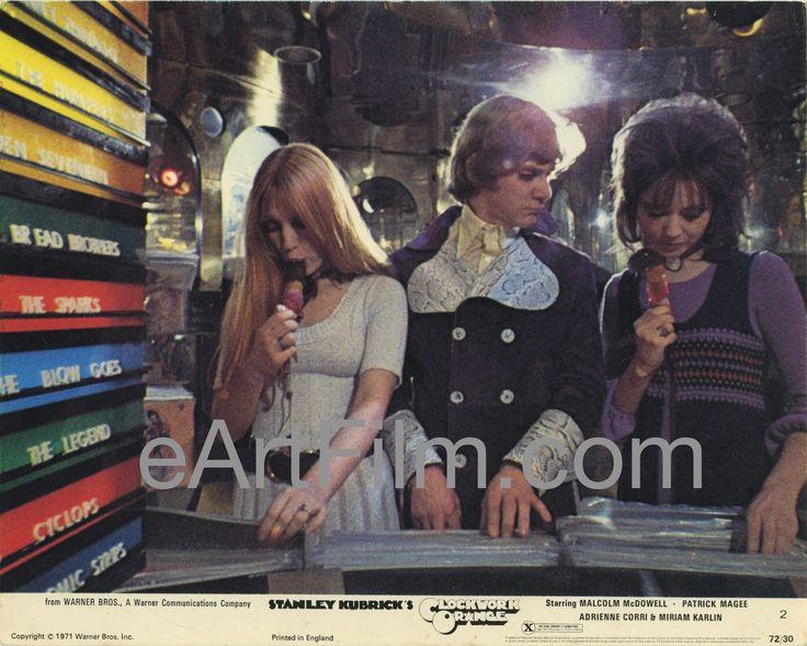 Clockwork Orange-Stanley Kubrick-Malcolm McDowell-Patrick Magee-8x10-X