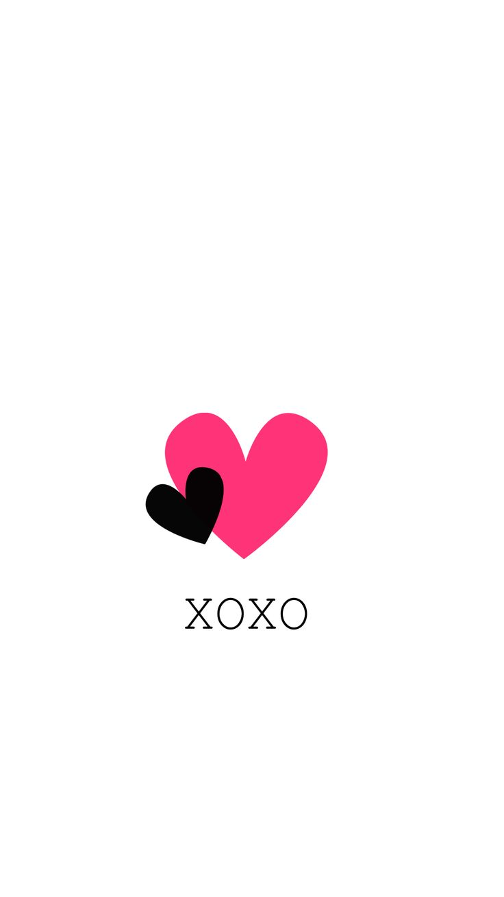 Xoxo hot pink hearts heart iPhone Wallpaper Background