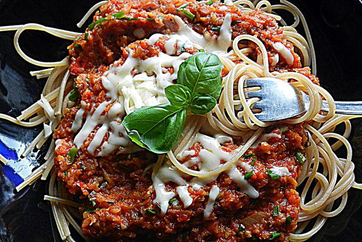 Spaghetti w sosie jarzynowym...