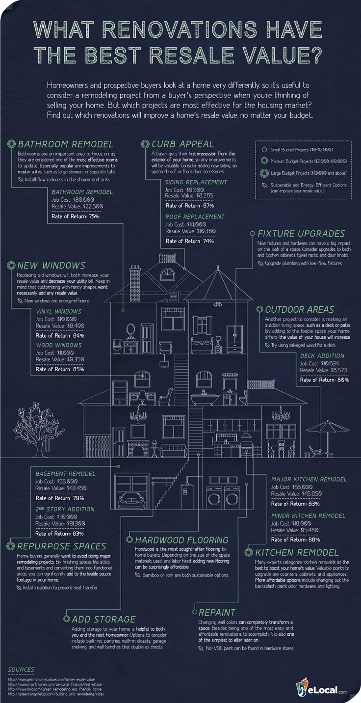 Renovation and Resale Infographic