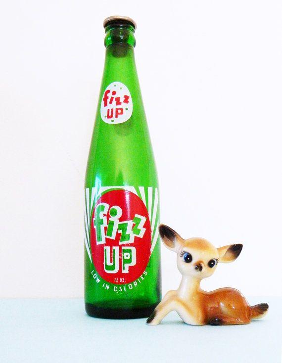 Vintage soda pop bottle collectible glass soda bottle for Decor drink bottle