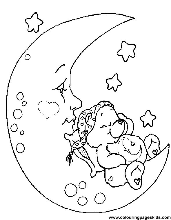 291 Best Care Bears Coloring Pages Images On Pinterest