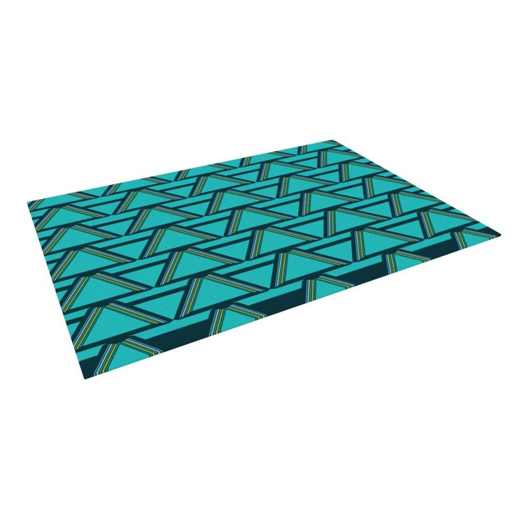"Nina May ""Deco Angles"" Indoor / Outdoor Floor Mat"