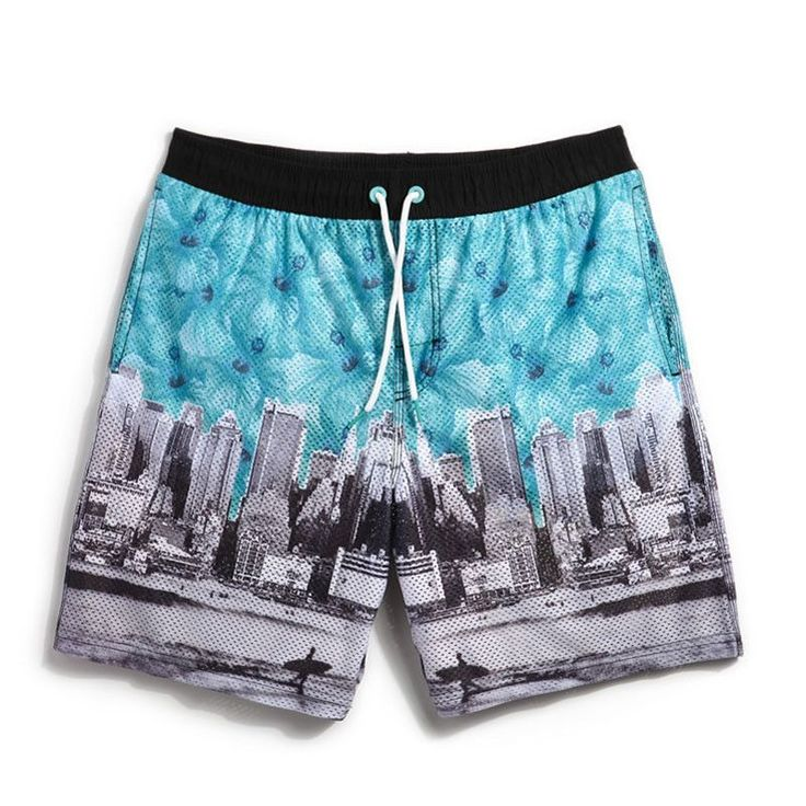 New Mens Swimwear liner Printed swimming trunks Surf Beach Shorts Brand Men Bathing Suit male Loose Boardshorts Plus Size A9