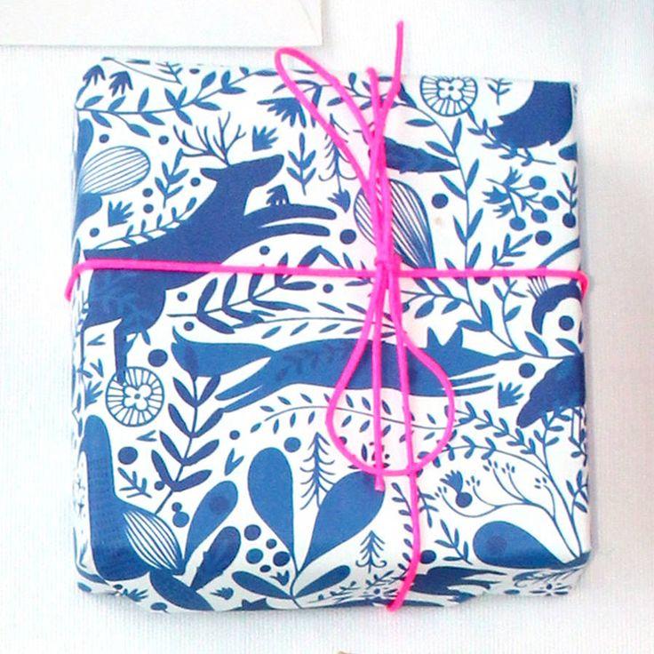 Bec's Enchanted Wood Christmas Wrapping Paper - Paper & Cloth Design Studio Christmas Shop on notonthehighstreet.com