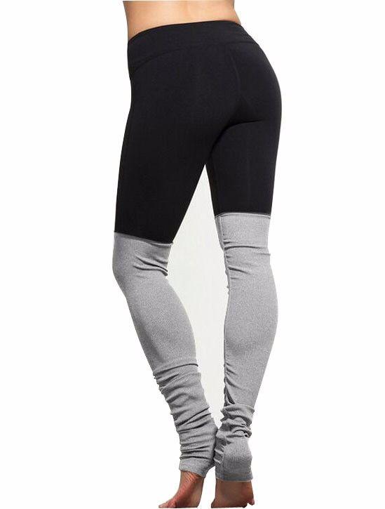 Goddess Pleated Pants Contrast Color Stirrup Leggings Sports Trousers Quality Cotton Yoga Pants Dance Pants  Fitness