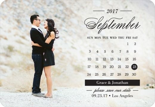 Elegant Calendar - Save the Date Magnets - Magnolia Press - Black : Front