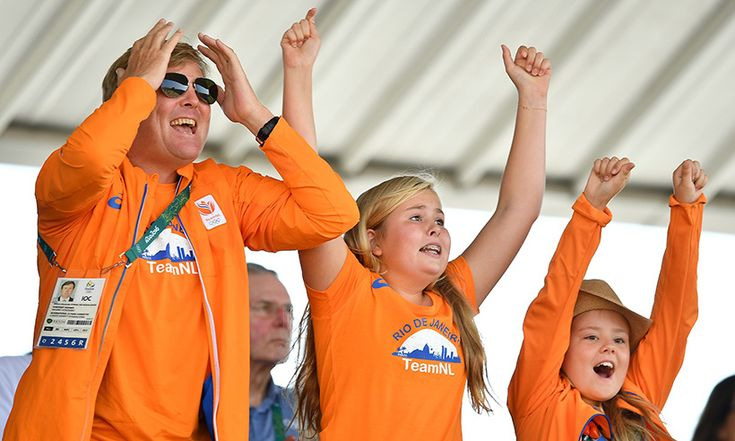 The Dutch olympic team had some very special cheerleaders in the stands during the Summer Games in Rio. King Willem-Alexander and his daughters, Princess Amalia and Princess Alexia, couldn't contain their excitement as they watched their homegrown athletes take part in the Equestrian Jumping finals. <br><p>Photo: © Getty Images