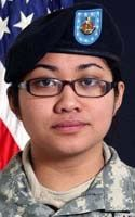 Pvt. 1st Class Jaysine S. Petree. 17th Combat Sustainment Support Battalion, 3rd Maneuver Enhancement Brigade of Joint Base Elmendorf-Richardson, Alaska. PFC Petree was 19 years old and from Yigo, Guam. She died September 24, 2010 when attacked with an IED near Bagram Airfield, Afghanistan.