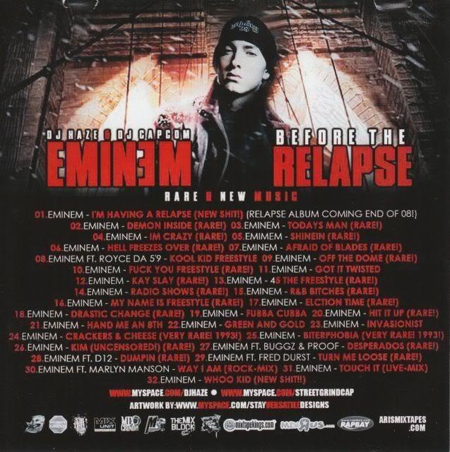 Rare Eminem CD: Before the relapse