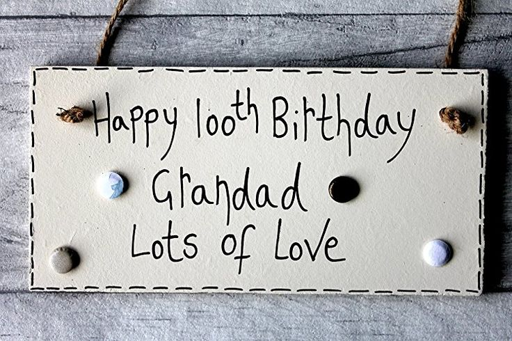 MadeAt94 100th Birthday Gifts Plaque Sign For Dad Grandad Handmade Wooden 6x3 in...