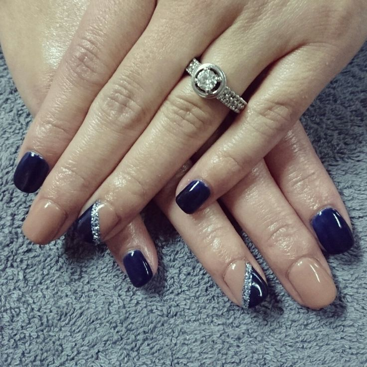 17 Best Ideas About Navy Nails On Pinterest