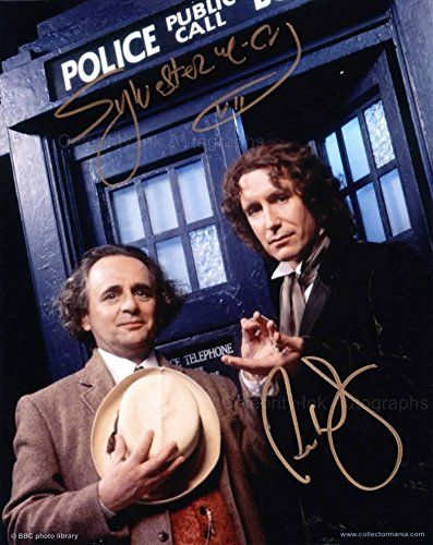 SYLVESTER McCOY and PAUL McGANN as The 7th and 8th Doctors - Doctor Who GENUINE AUTOGRAPHS @ niftywarehouse.com #NiftyWarehouse #DoctorWho #DrWho #Whovians #SciFi #ScienceFiction #BBC #Show #TV
