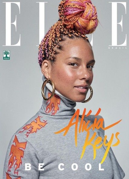 Alicia keys with makeup by Chichi Saito for Elle Brasil