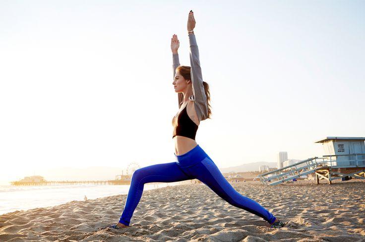 Chiara Ferragni Nike training Malibu Yoga 7