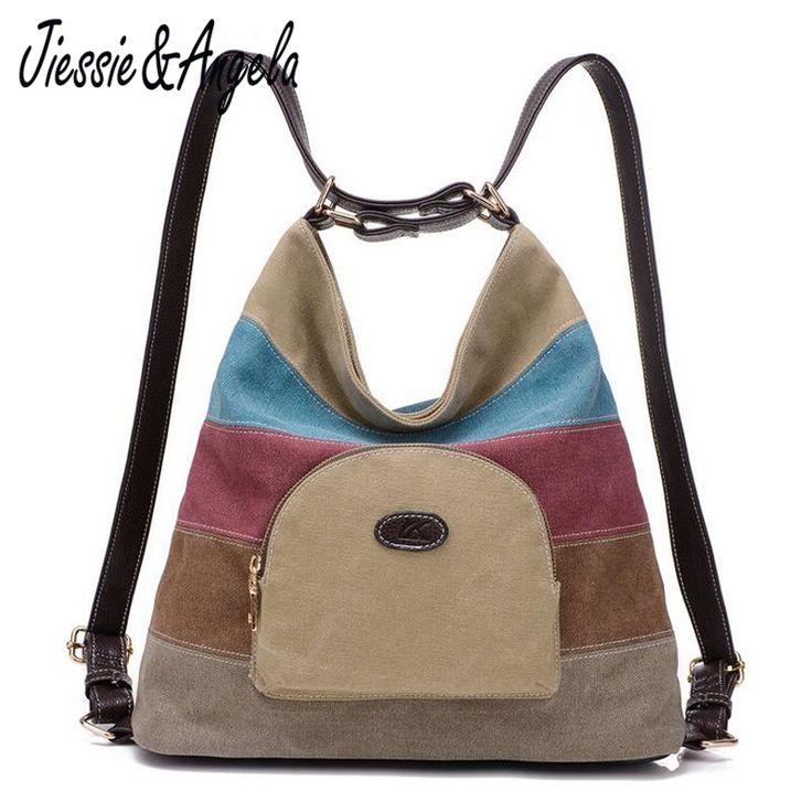Jiessie & Angela new women canvas backpacks shoulder travel  bag lady school bags mochila designer brand female bag //Price: $24.00 & FREE Shipping //     #hashtag3