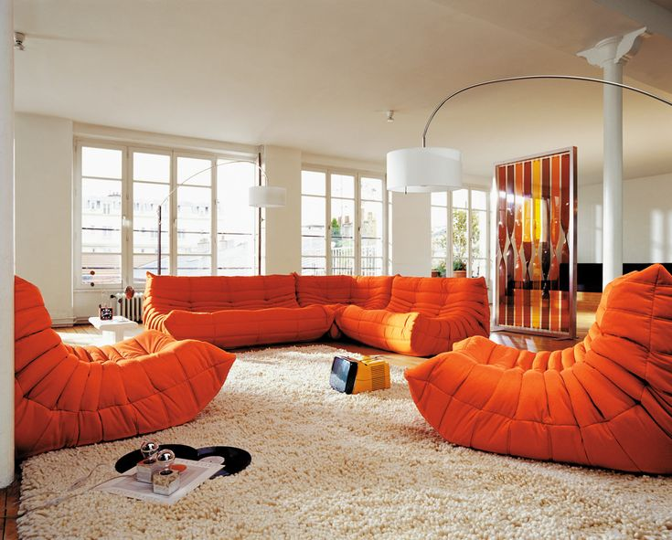 Living Room Ideas Orange Sofa 187 best orange decor images on pinterest | home, architecture and