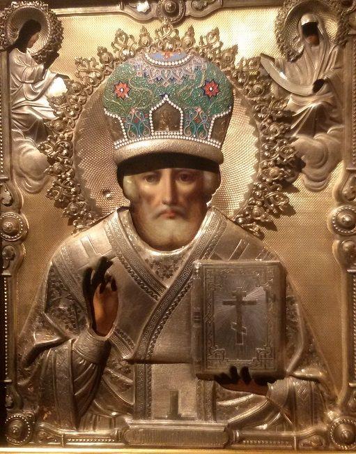 Святой Николай Чудотворец Мирликийский (в окладе), XIX век, Москвa