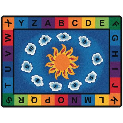 Carpets for Kids Literacy Sunny Day Learn and Play Kids Rug | Wayfair